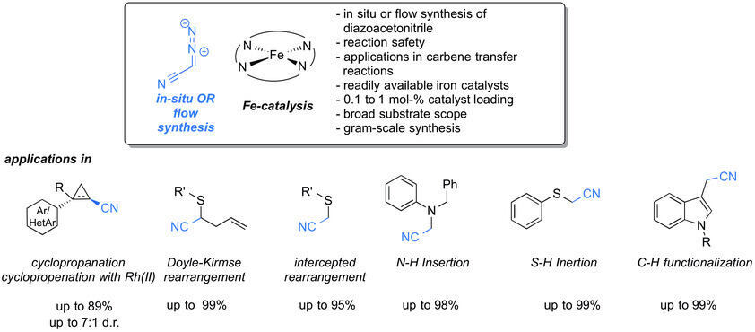 Iron catalyzed carbene transfer reactions